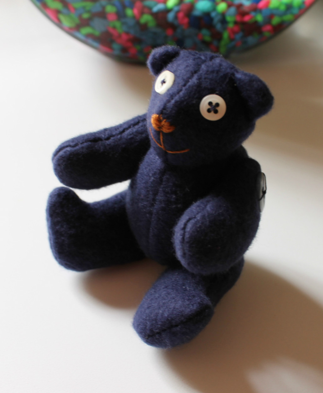 Blue Fleece Bear