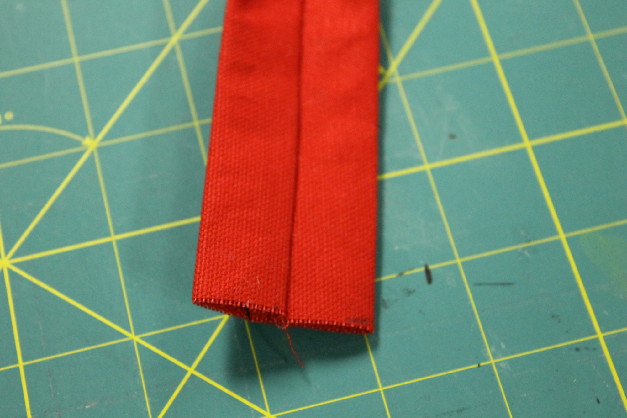 Handle folded and ironed