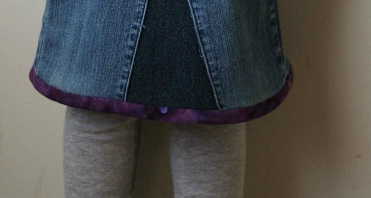 Hem of second skirt