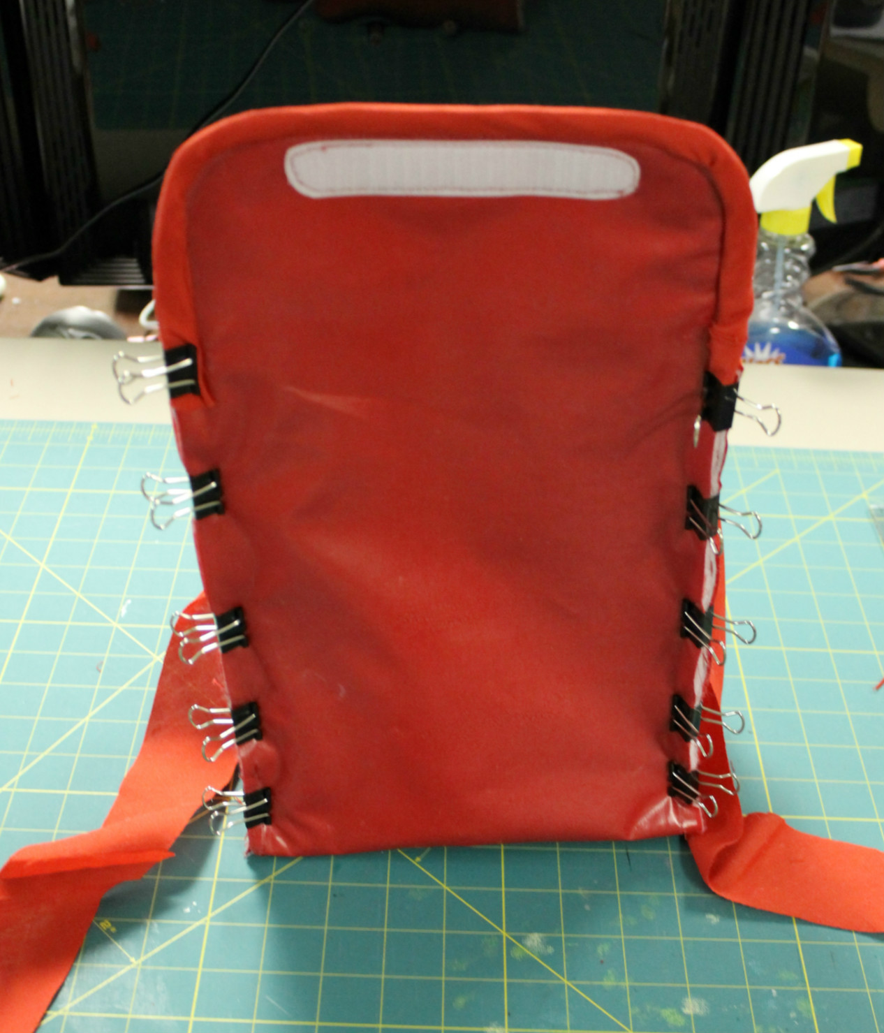 sewing up the back/flap