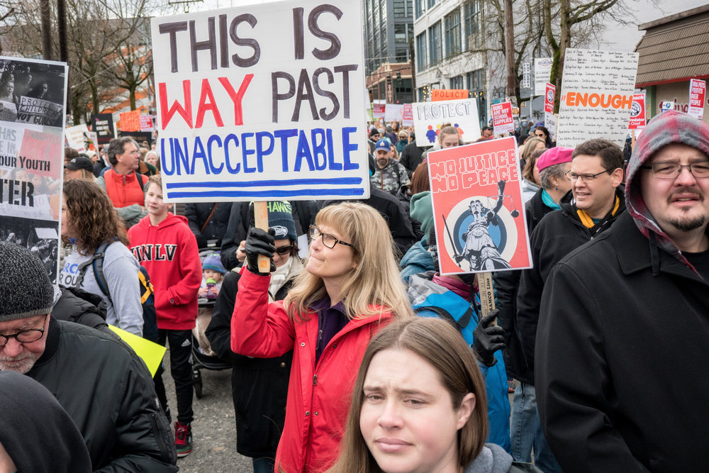 March for our Lives, Seattle, WA. Photo courtesy of  David Lee .