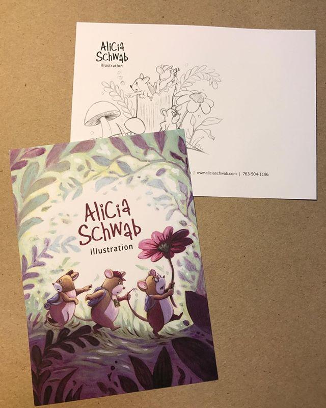 New postcard for aliciaschwab.com #childrensillustration #mice #adventure #nature