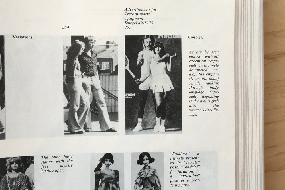 "Detail: Marianne Wex,  'Let's Take Back Our Space': ""Female"" and ""Male"" Body Language as a Result of Patriarchal Structure  (Germany: Frauenliteratur Verlag, 1984)."