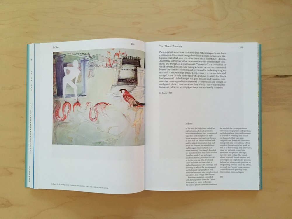Jo Baer, Tis Ill Pudding in the Cockatrice Den (Là Bas) , 1987, in The Absent Museum: Blueprint for a Museum of Contemporary Art for the Capital of Europe .Edited by Dirk Snauwaert (Brussels: WIELS, New Haven: Yale University Press, 2017).