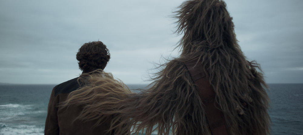 "Han Solo and Chewbacca palling around in ""Solo: A Star Wars Story."" (Photo courtesy Lucasfilm/Disney)"