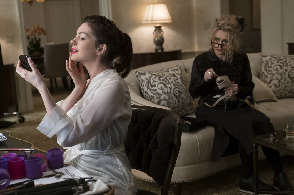 "Anne Hathaway and Helena Bonham-Carter in ""Ocean's 8"" (Photo courtesy Barry Wetcher/Warner Bros.)"