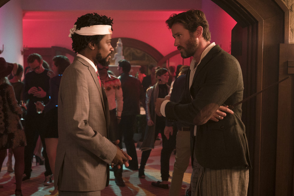 "Lakeith Stanfield and Armie Hammer in ""Sorry to Bother You."" (Photo courtesy Peter Prato/Annapurna Pictures)"