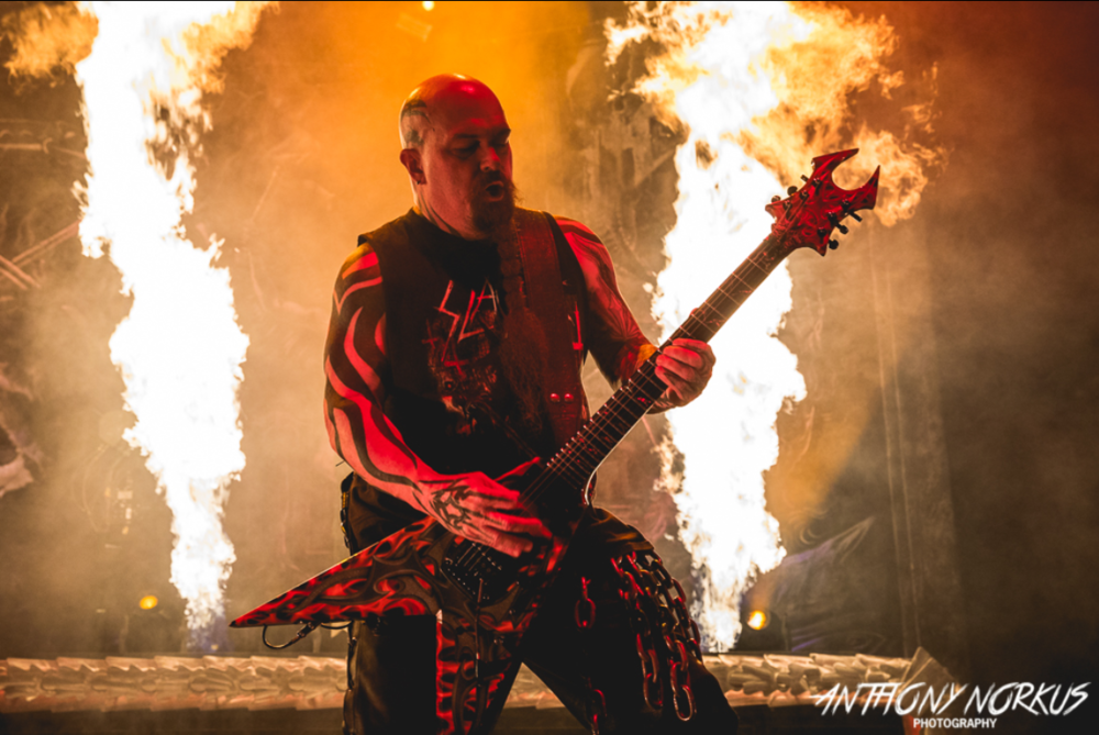 Slayer guitarist Kerry King performs at Van Andel Arena during the band's final tour, Aug. 7, 2018. (Photo courtesy Local Spins/Anthony Norkus)