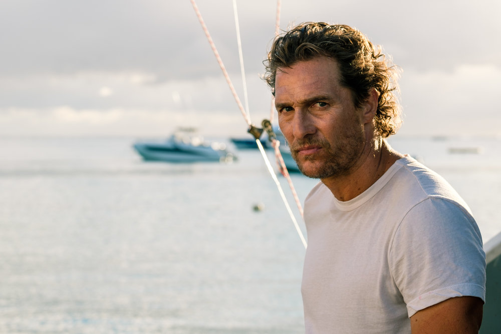"Matthew McConaughey in ""Serenity."" (Photo courtesy Graham Bartholomew/Aviron Pictures)"
