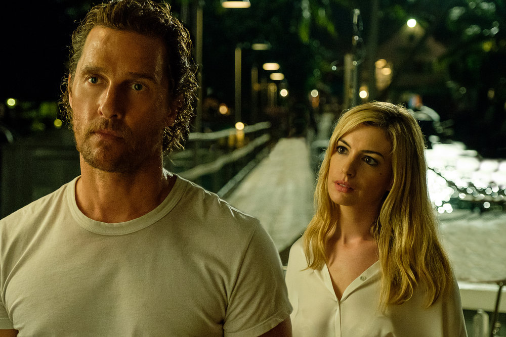 "Matthew McConaughey and Anne Hathaway in ""Serenity."" (Photo courtesy Graham Bartholomew/Aviron Pictures)"