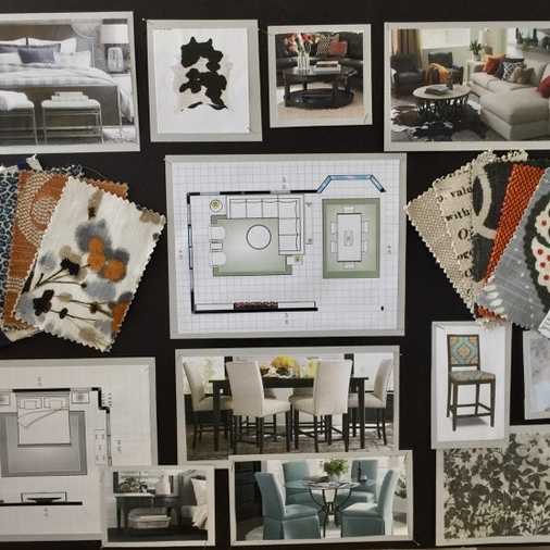 Design Conception | Mood Boards - We realize that the biggest challenge for most people is visualizing the final product. Design boards allow you to see all the components in a room come together.