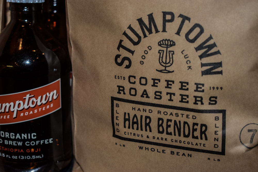 Hair Bent - Our main drip coffee we love is Hair Bender by Stumptown Roasters. We also offer a new selection of Stumptown's Cold Brew, and Cold Brew Nitro s. Really get your hair standing up!