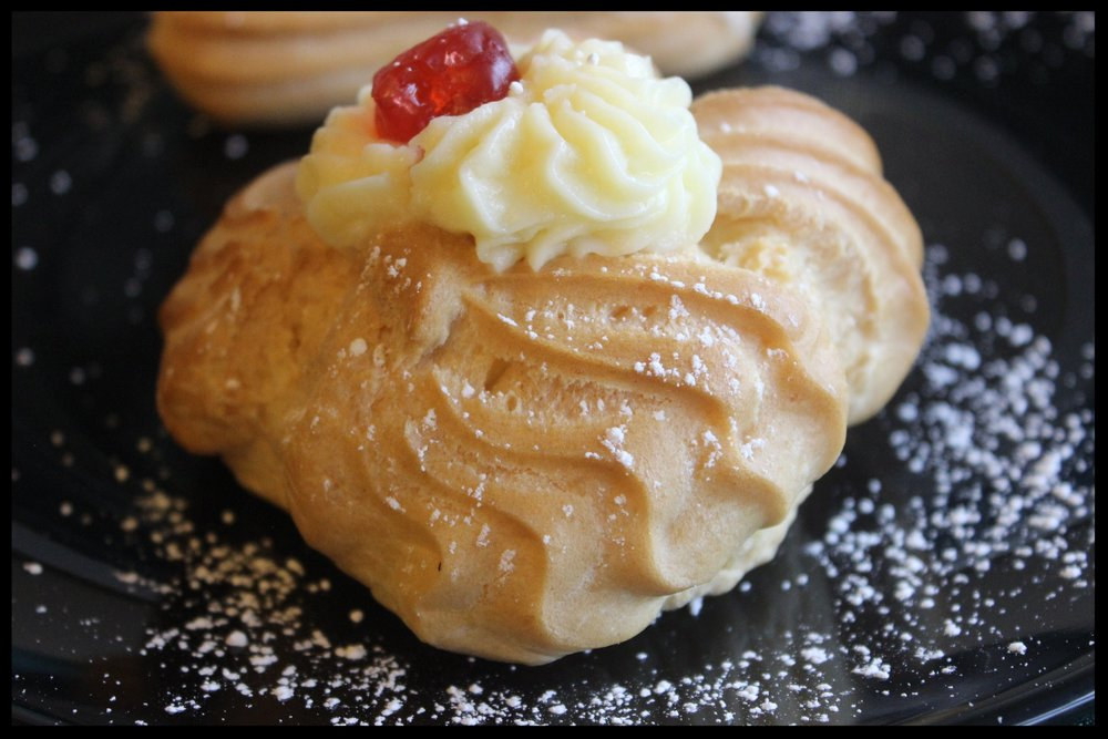 Vanilla Cream Puff - Cream puff shell filled with vanilla cream.