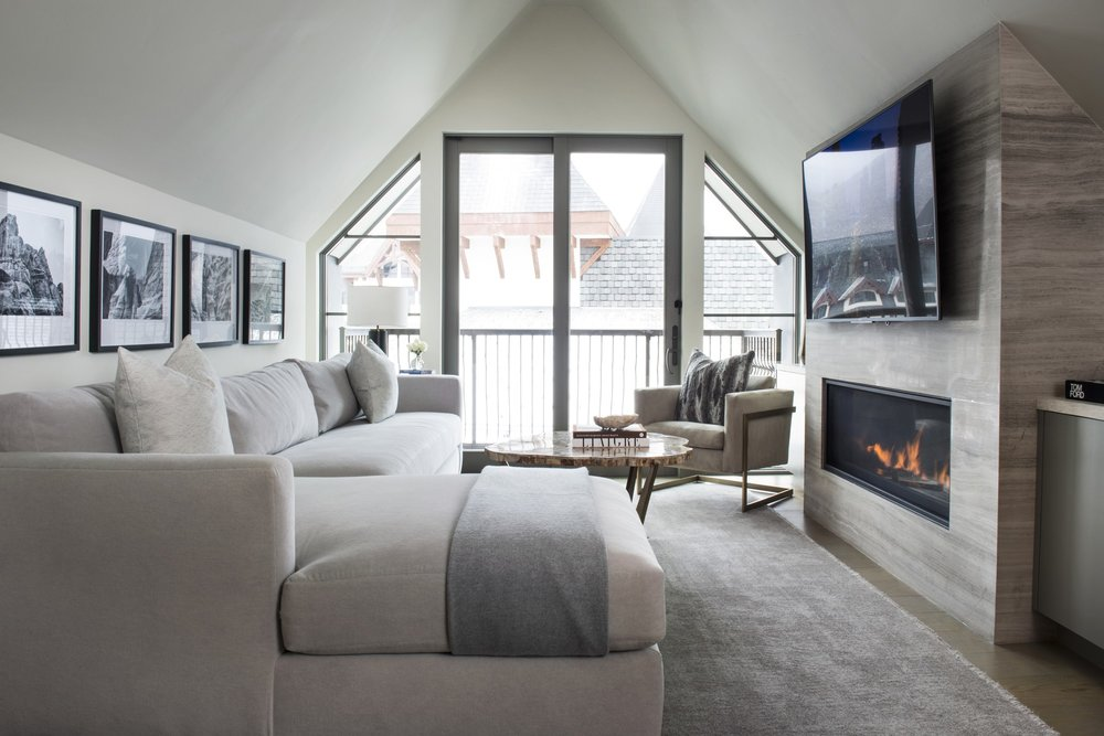 Living room with floor mattress and sofa