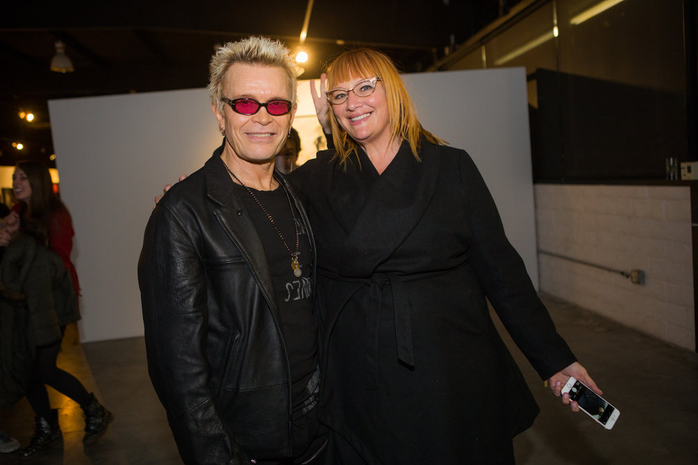 Billy Idol with Heidi Johnson of HiJinxPR