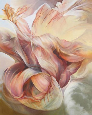 "Apparicion, Desierto Pintado  series 2012 acrylic/canvas 50"" x 40""   Collection of Ellen Speert and Paul Henry"