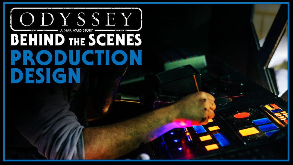 The production design of Odyssey was a crucial aspect from the very beginning.  We knew a lot was going to depend on the look and feel on screen. We were lucky enough to work with Production Designer Greg Spessot to bring the film to life! Check out this video to see how Greg and his team brought the film to a new but familiar world!