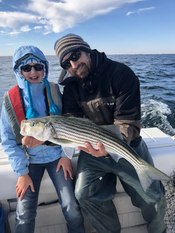 Dave Werner, fisherman, biology teacher and regular customer and his daughter, Amalie. Photo courtesy of Werner.