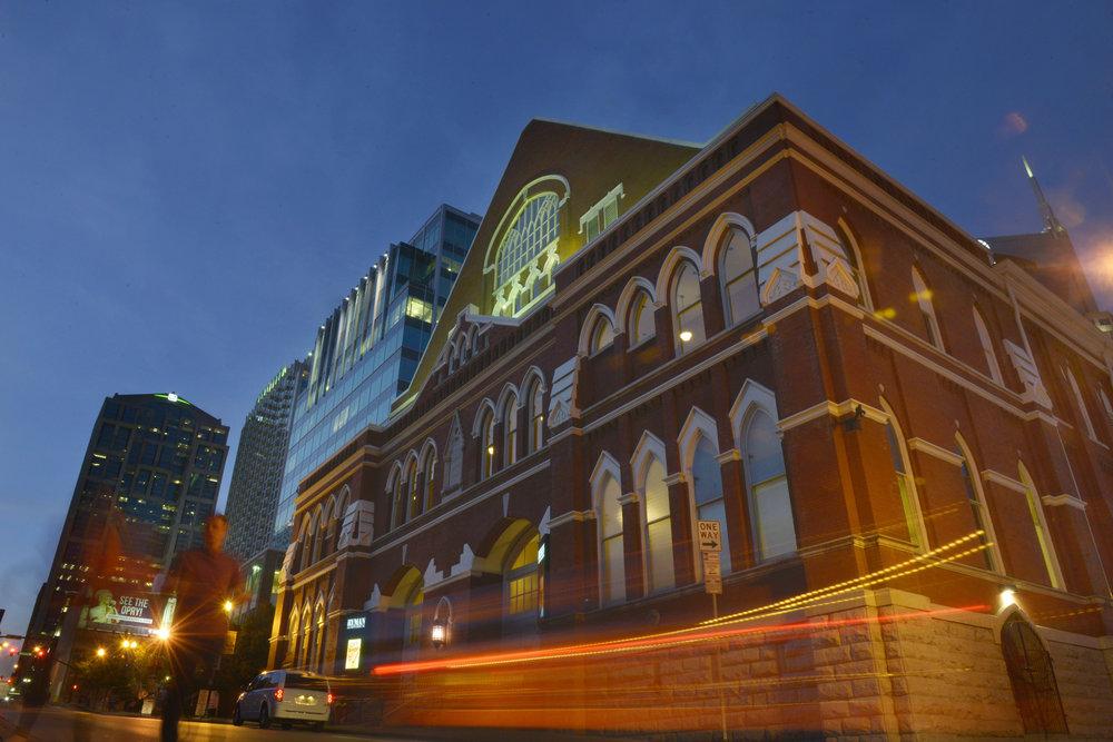The legendary Ryman auditorium in Nashville, Tenn.