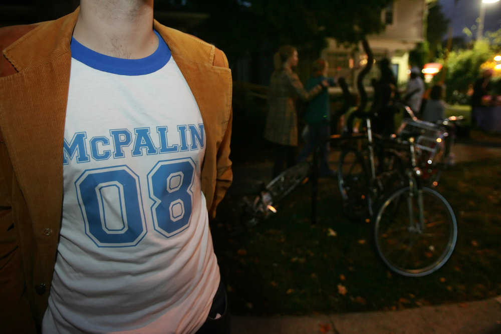 A McCain supporter outside Belmont University in Nashville, Tennessee. Several McCain supporters said they were outnumbered in the crowds because they fully expected Tennessee to go Republican in November.