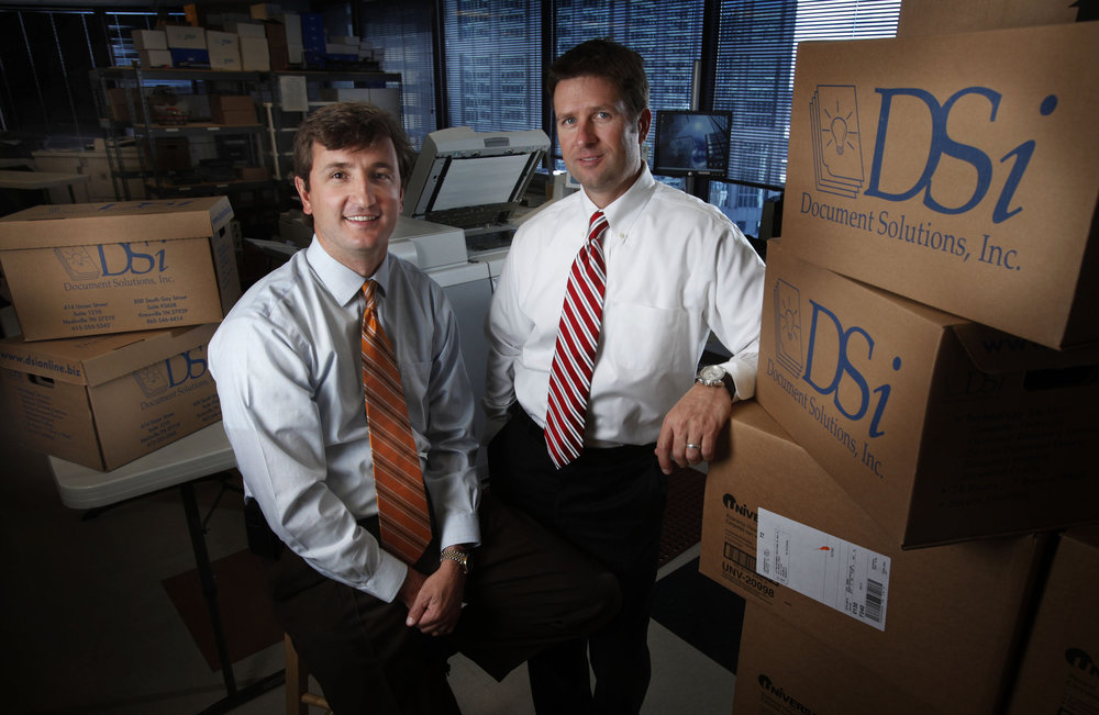 Tom Turner, left, and Kevin Tyner of DSi, Document Solutions Inc.