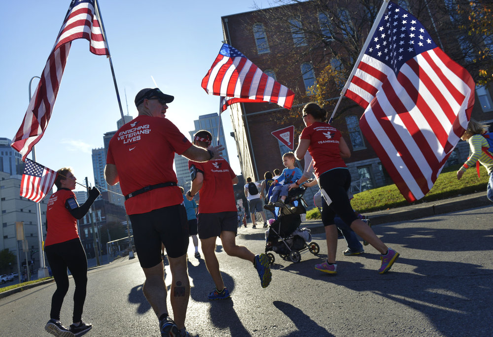 Thousands of runner and walkers participate in the Mayor's 5K November 9, 2014 in Nashville, Tenn.