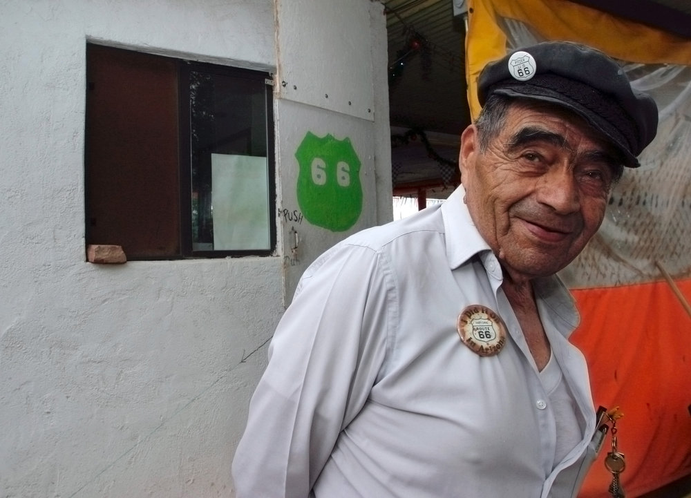 Juan Delgadillo owner of Snowcap, the iconic Route 66 eatery in Seligman, Arizona.