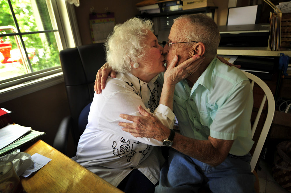 Clara Emery Pugh, 83, and Marvin Pugh, 85, went to high school together in the 40's but reconnected later in life and married in 2001 June 16, 2011 in Nashville, Tenn.