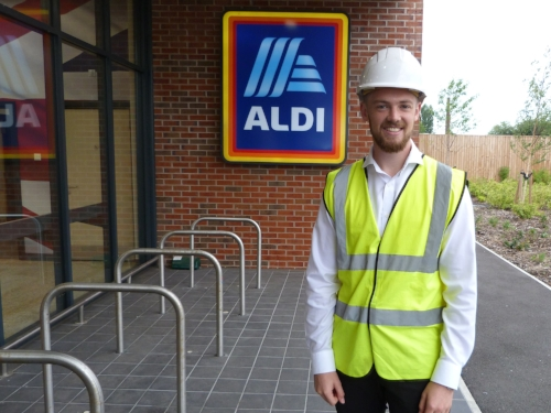 Joe Mayoh at Aldi's recently re-opened Holmes Chapel store