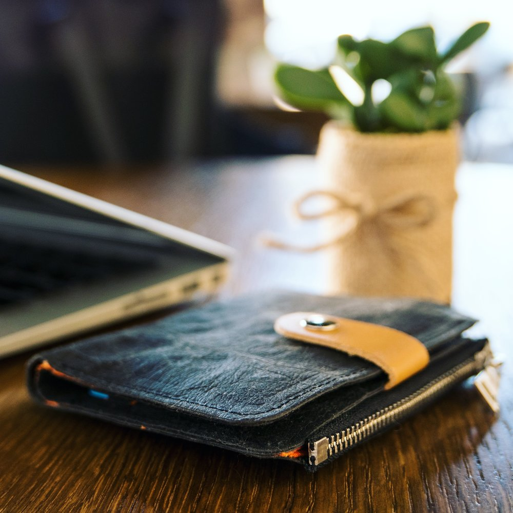 Wallet Held Responsible - Jacron paper is biodegradableCellulose made using sustainable forestry in IndiaOrganic cotton liningCruelty-free production, no animals hurt or animal products usedPlant-based dyes
