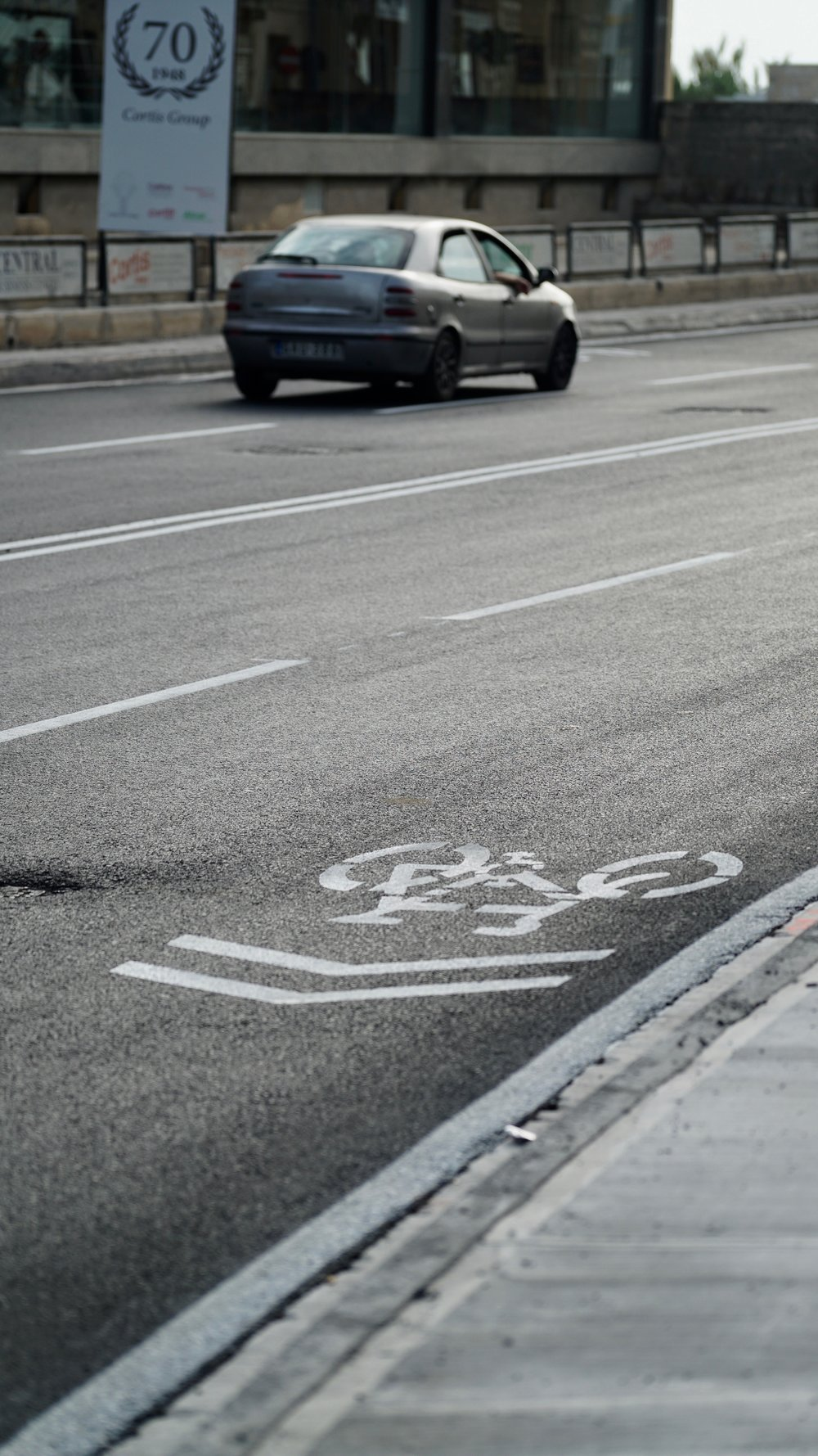 Both south and north bound advisory bicycle lanes have been lost to accommodate another car lane. Sharrows have been placed as an alternative, for BAG this is unacceptable.