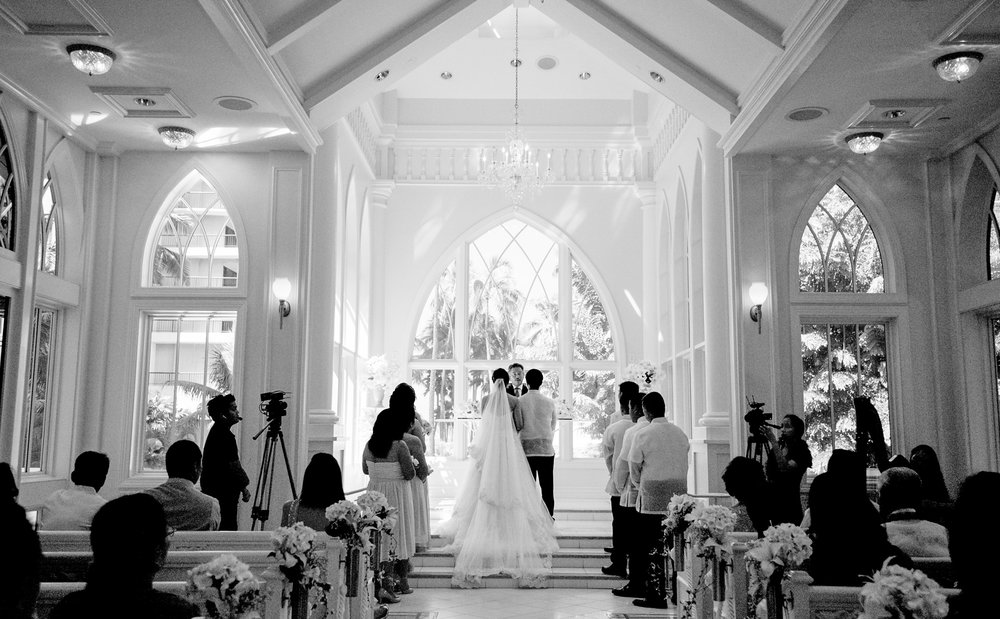 Wedding ceremony at Akala Chapel Hilton Hawaiian Village