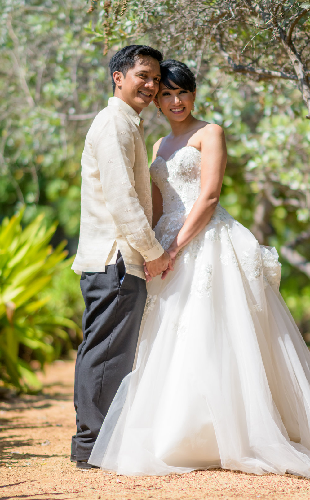 Bride and groom at The Kahala Hawaii