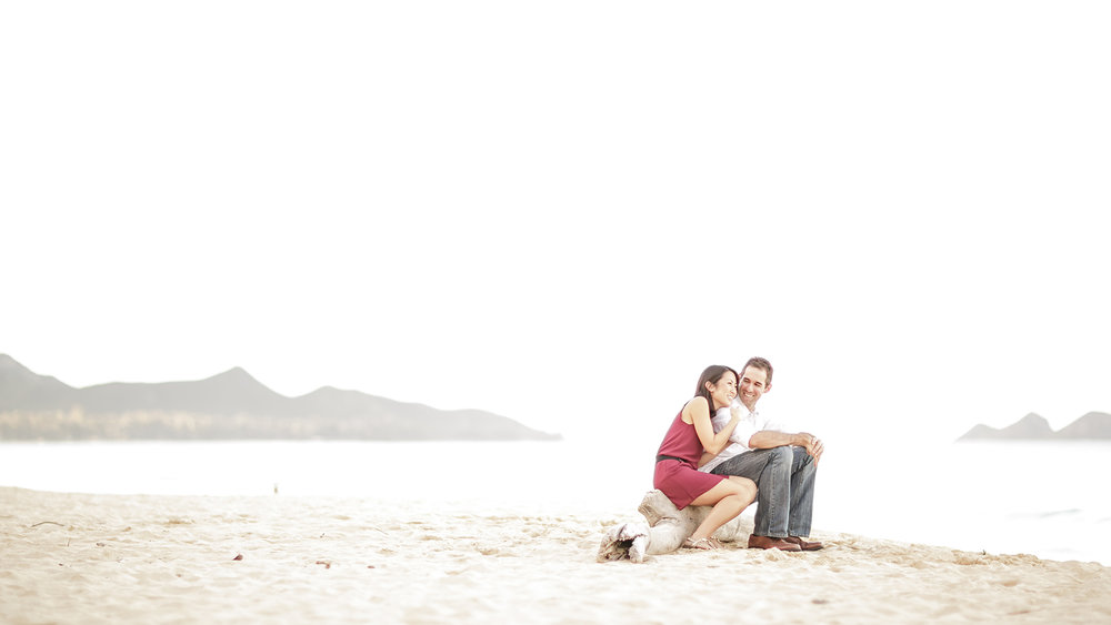 Engagement session at Sherwood Forest in Waimanalo, Hawaii.
