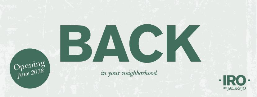 We are back in the neighborhood! - Reserviere Dir noch heute Deinen Tisch für den Eröffnungsabend!