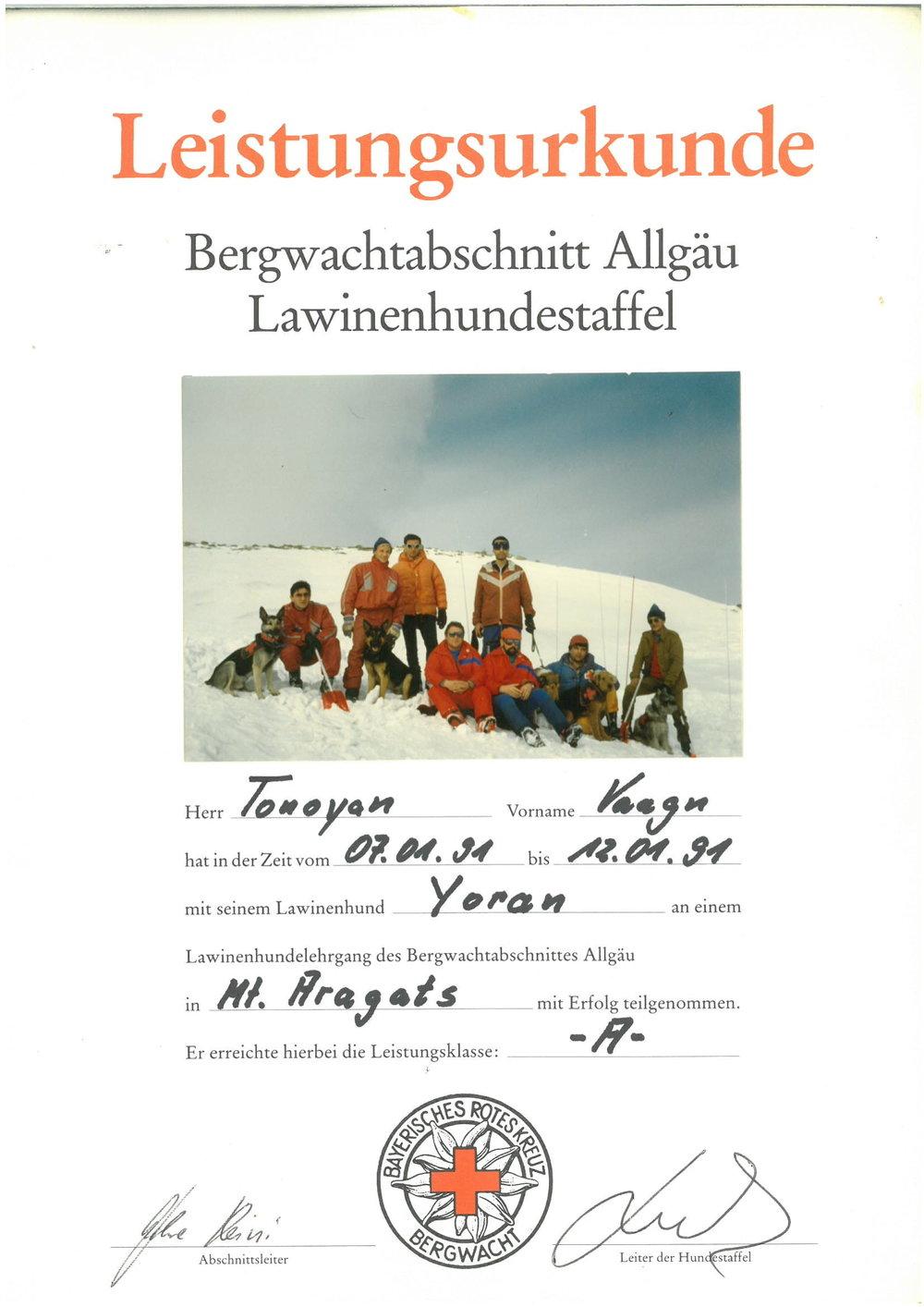 Սպիտակ փրկարարական խումբը Արագած լեռան վրա մասնակցում է Կարմիր Խաչի կողմից անցկանվող վերապատրաստմանը։