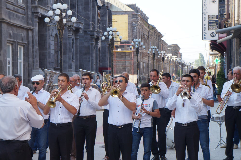 Musical performance for the Golden Apricot Film Festival in Gyumri.