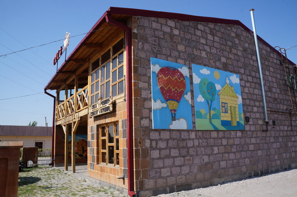 The Chateau, the headquarters of Shirak NGO, an organization that helps those still living in domiks, or temporary housing.