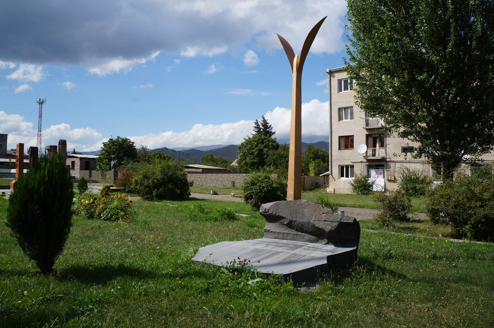 A memorial for the 1988 Armenian earthquake in Spitak.