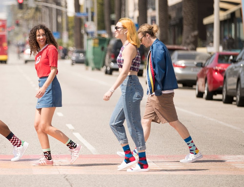 Happy Socks - Two friends had a vision: to spread happiness by turning an everyday essential into a colourful design piece with a rigid standard of ultimate quality, craftsmanship and creativity. A concept now brought to perfection by the Happy Socks collective of creators.