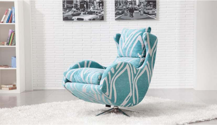 ICONIC CHAIR DESIGN HANDMADE TO ORDER - To add an element of fun to your living space choose something colourful and playful like this unique armchair with a clever combination of curves that offers the ultimate in relaxation.
