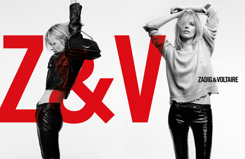 Zadig & Voltaire - The Zadig woman is timeless, elegantly tousled, and lives a life full of travel and dance. She welcomes the chaos of life, and her wardrobe reflects her adventurous lifestyle.Eva Herzigova, iconic 90's supermodel, is the face of the new Zadig & Voltaire Fall / Winter 2018 campaign, shot by acclaimed photographer Frédéric Meylan.