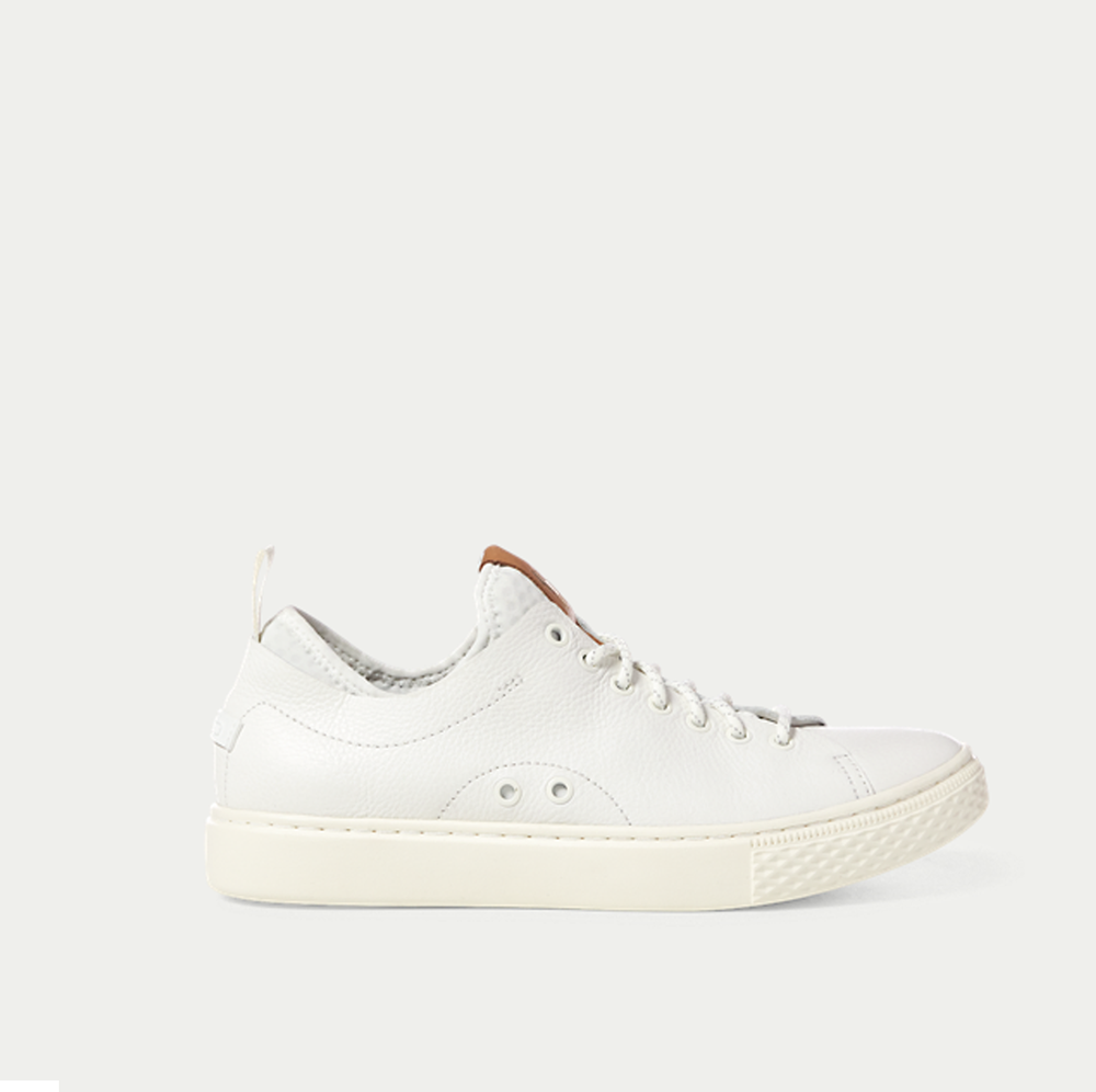 performance-driven - Technical features that include a sock-like stretch bootie and Ralph Lauren's innovative RLite footbed will make you fall for these Dunovin Leather sneaker in seconds.