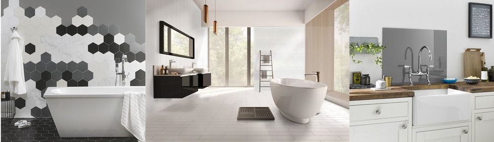 British Ceramic Tiles for kitchens and bathrooms modern, stylish, clasic