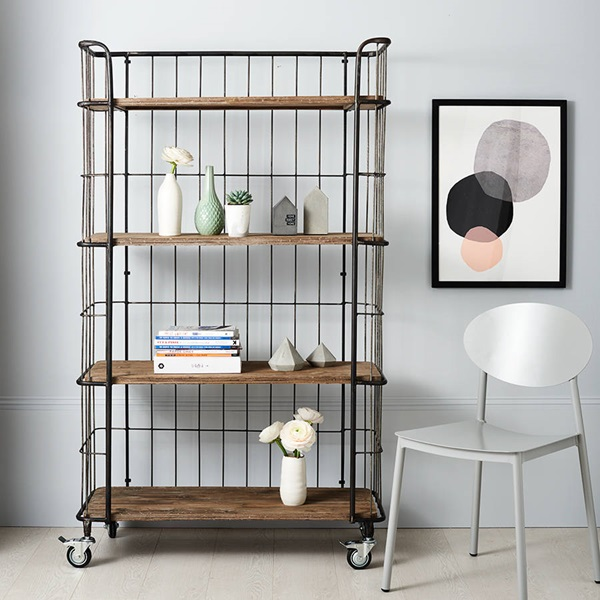 INDUSTRIAL TROLLEY STORAGE - Its industrial feel and appearance make it edgy and appealing bringing a breath of fresh air for any modern home.