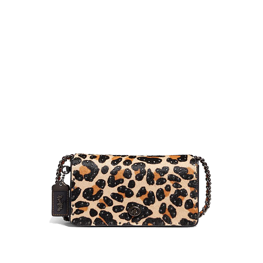 Coach - Dinky With Embellished Leopard Print