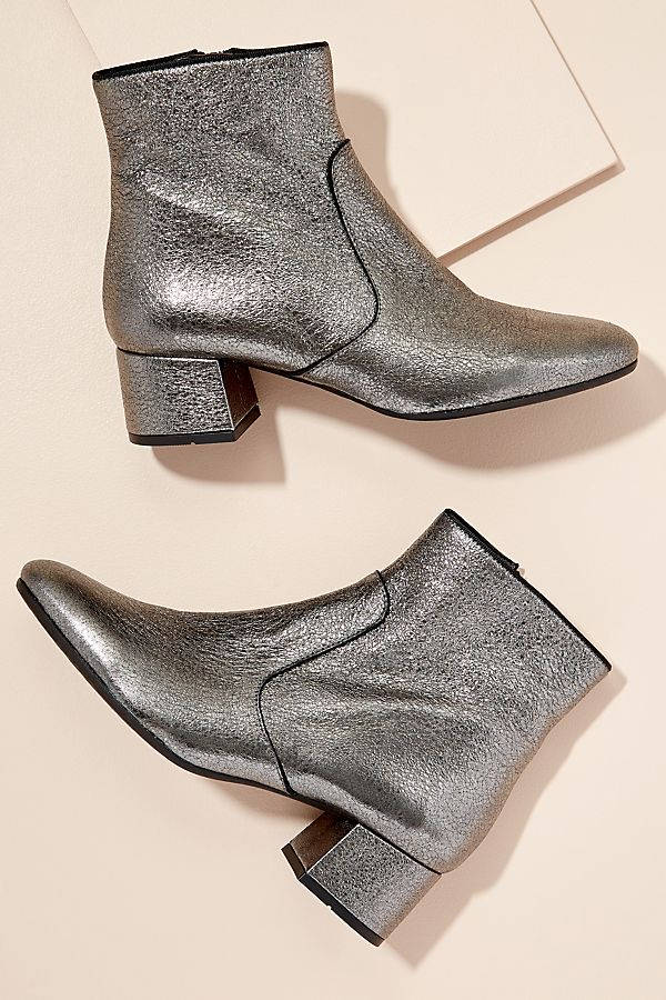 Metallic Silver Ankle Boots Autumn 2018 Fashion Trends