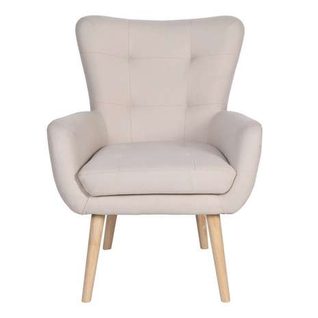 save £40 on alva chair - Available in a stylish natural fabric, this modern occasional chair features angled hardwood leg and is perfect to finish off a room.