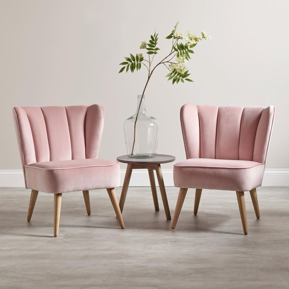 Best deals for discounted velvet pink chairs from Cox and Cox