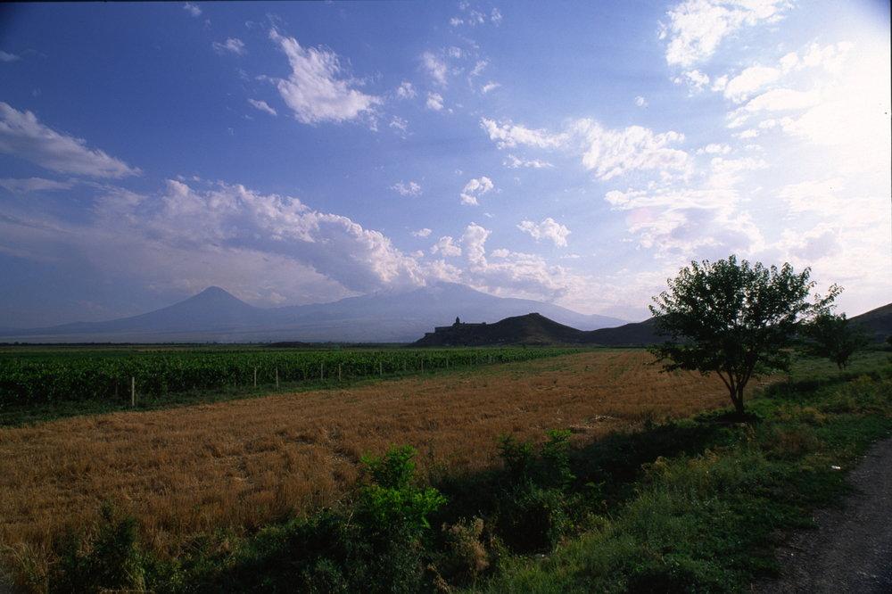 Mount Ararat and Khor Virap, Armenia-Turkey border